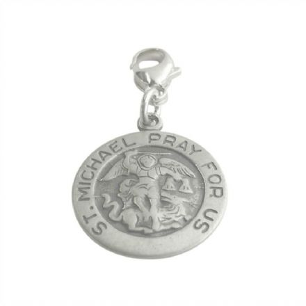 Saint Michael Charm on Lobster Clasp